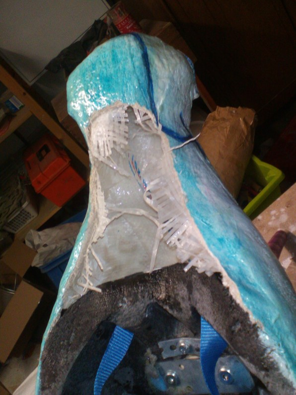 hollowing out the snout and reinforcing it with epoxy