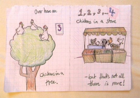 "sketch for ""Chasing Chickens"" 2"