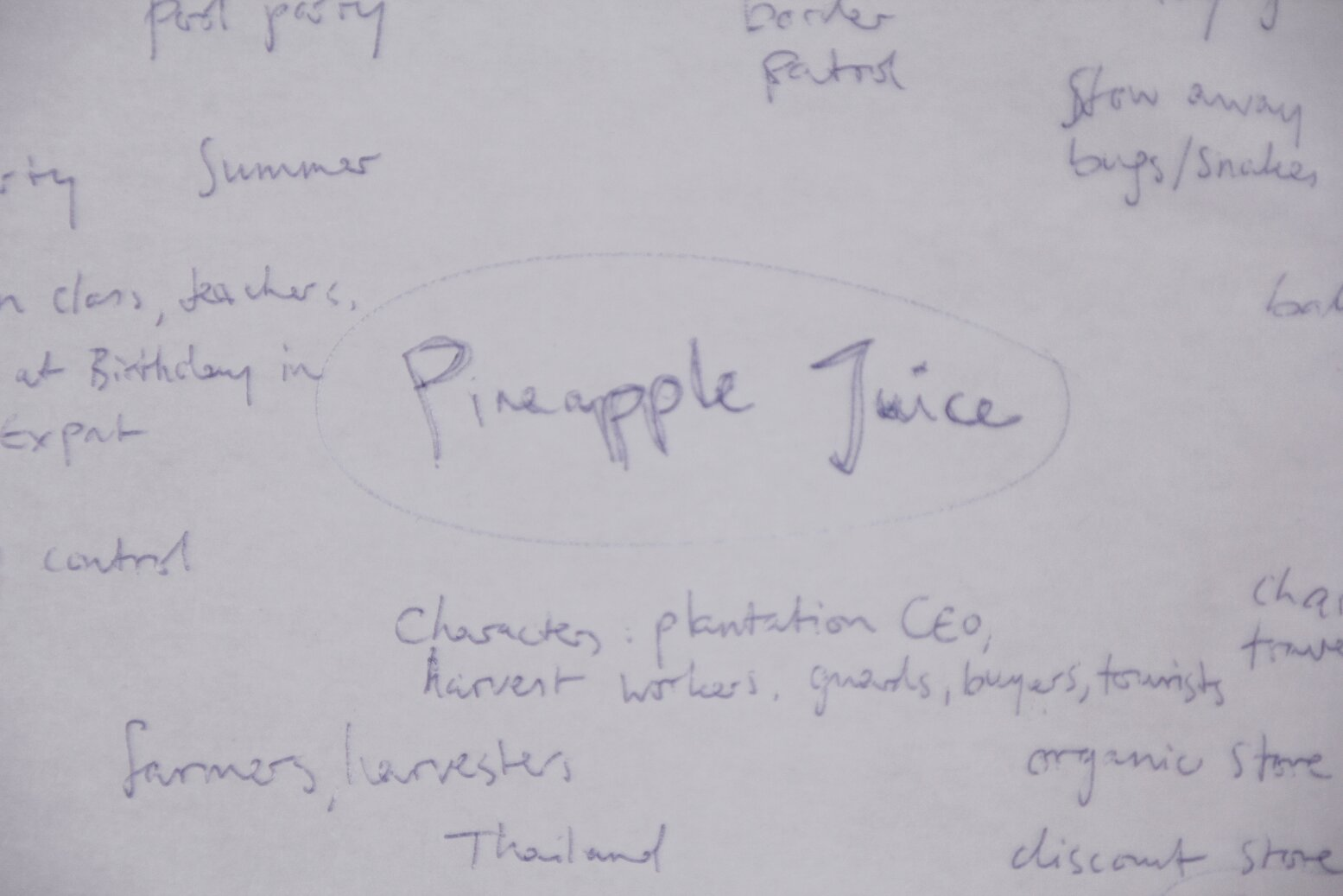 Pineapple Juice: A Shortstory