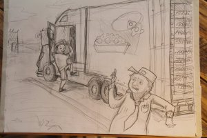 Concept Art: Trucker Ryan