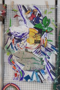 Recycled Plastic Art: Cutting Board and Conference Collage!