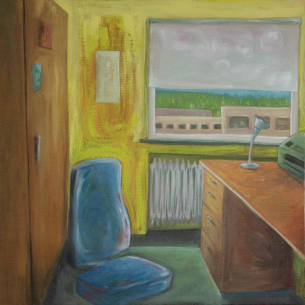 Office (2017) Oil on Canvas, 110x110 cm