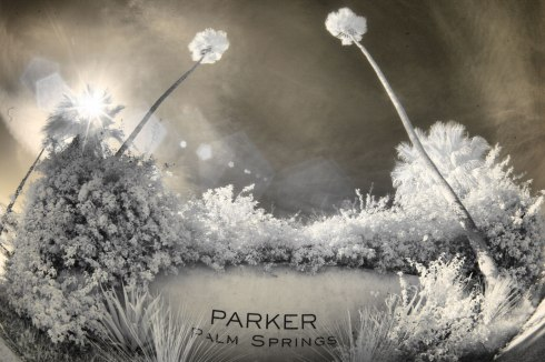 wedding photographer palm springs parker sign infrared