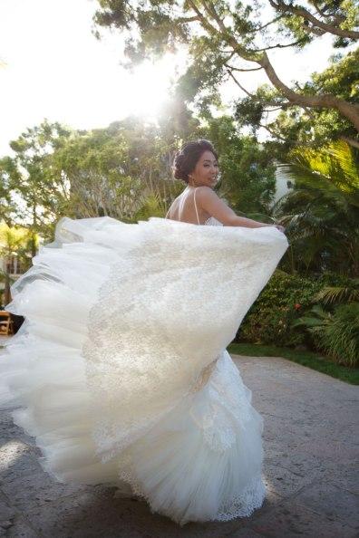 bride twirling wedding ritz carlton laguna niguel
