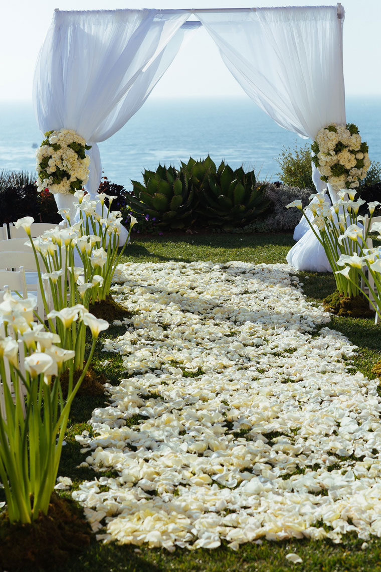 Wedding ceremony aisle laguna niguel ritz carlton