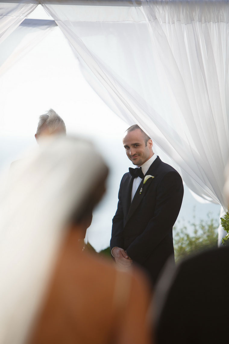 ritz carlton laguna niguel wedding bride walking down ailse