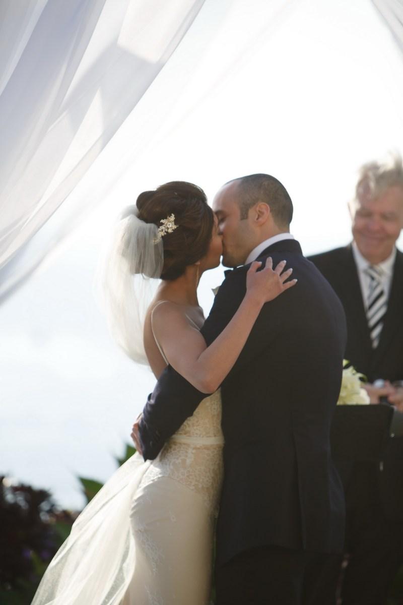 wedding kiss ritz carlton laguna niguel
