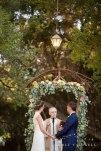 ceremony altar temecula creek inn wedding stone house bride