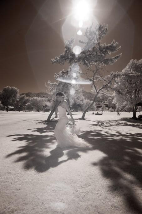 temecula creek inn wedding photographer bride infrared photography