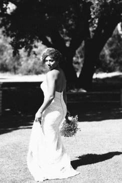 temecula creek inn wedding photographer bride on golf course