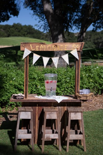 temecula creek inn wedding photographer lemonade stand ceremony