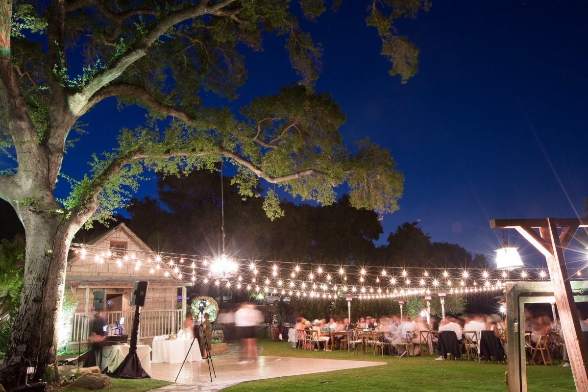temecula creek inn weddings stonehouse reception night time photograph