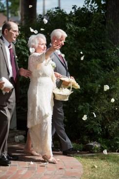 French Estate wedding photographer orange grandma as flower girl