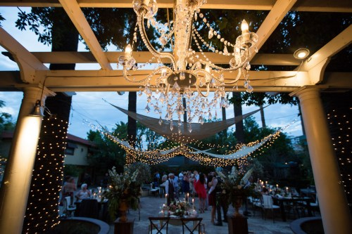French estate wedding photographer orange reception dance floor