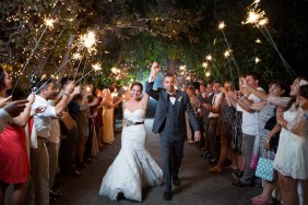 French estate wedding photographer orange reception spakler exit