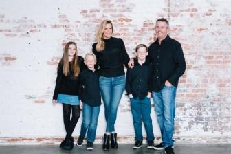 family photography ideas in the studio nicole caldwell brick backdrop 05