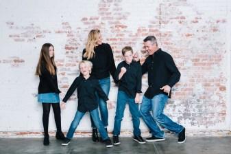 family photography ideas in the studio nicole caldwell brick backdrop 06