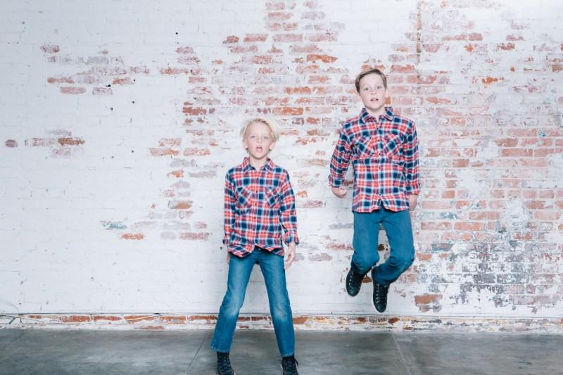 family photography ideas in the studio nicole caldwell brick backdrop 14
