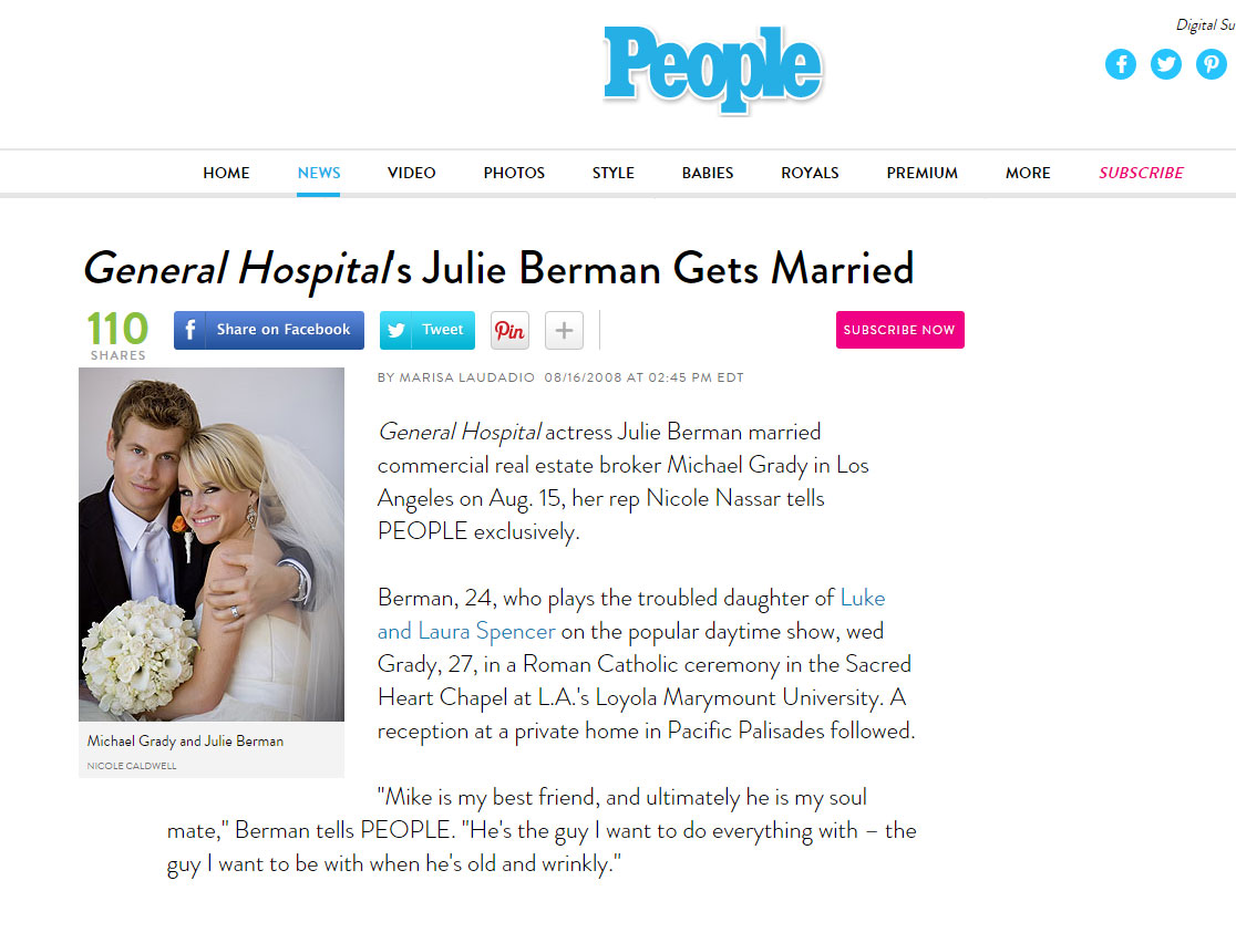Julie berman wedding people magazine by nicole caldwell nicole julie berman wedding people magazine by nicole caldwell publicscrutiny Gallery