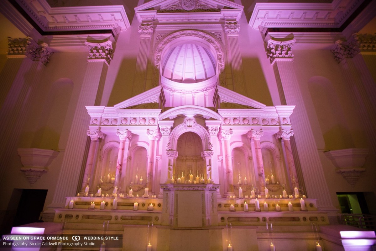 candles altar wedding ceremony vibiana