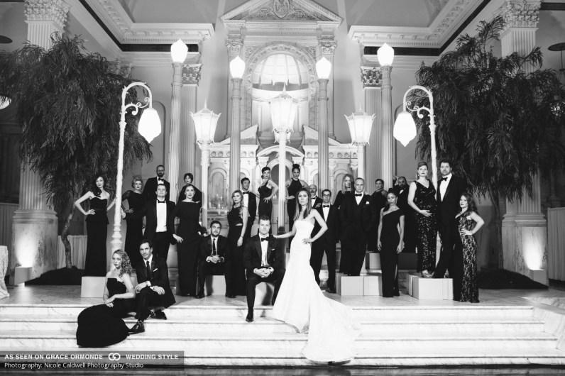 bridal party vibiana wedding urban light