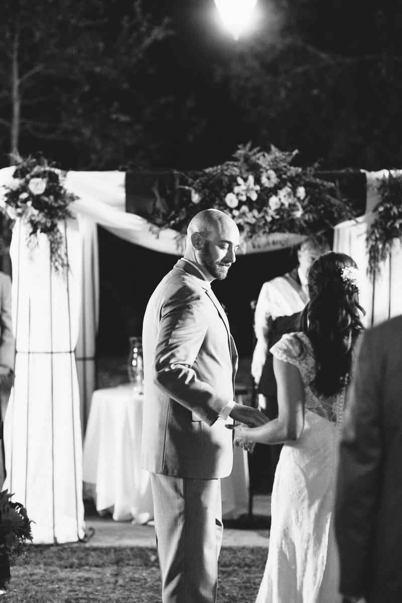 temecula creek inn weddings nightime ceremony jewish 44