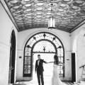 vibiana wedding bride and groom