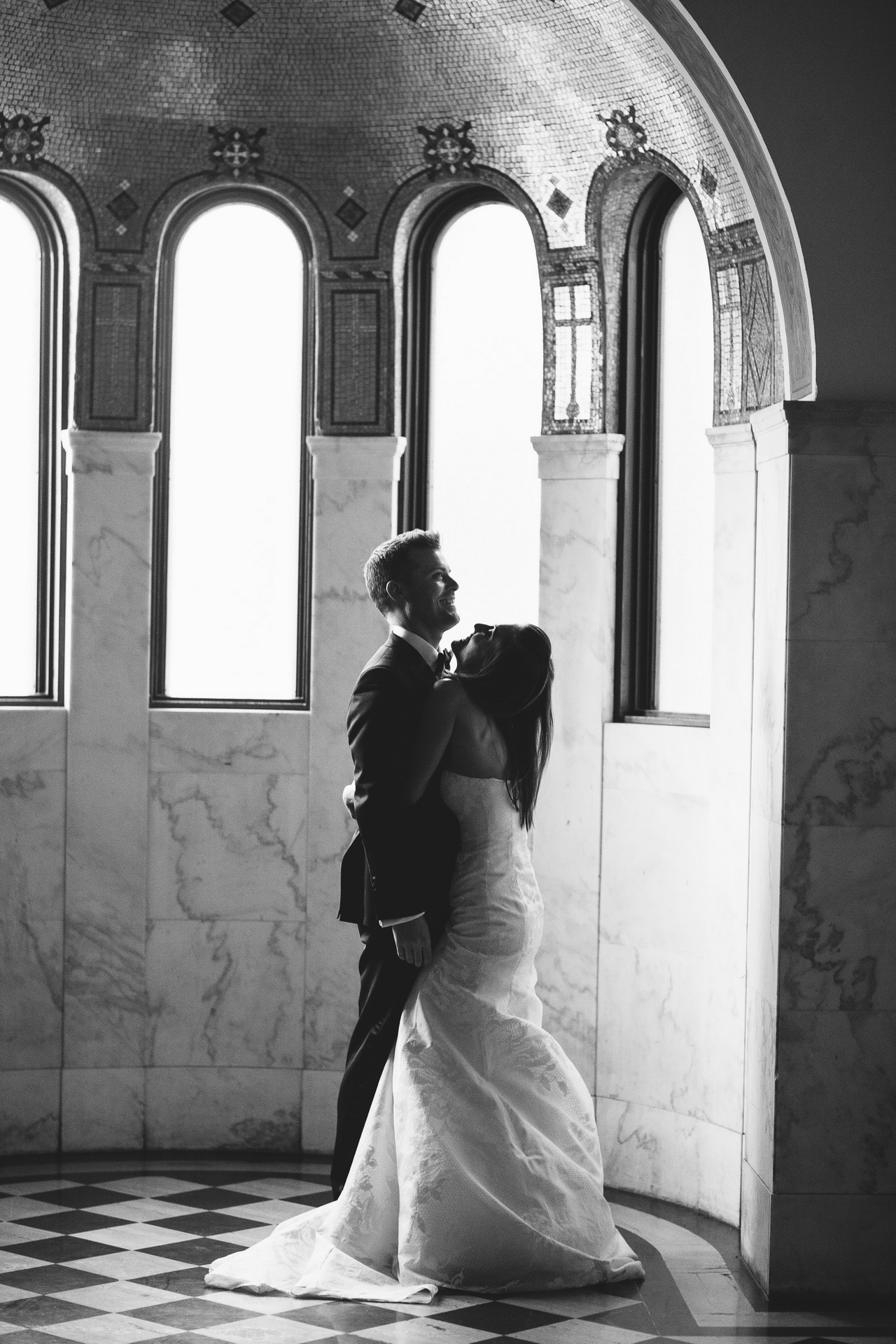 los angeles wedding venue vibiana bride and groom