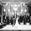 bridal party vibiana wedding urban light