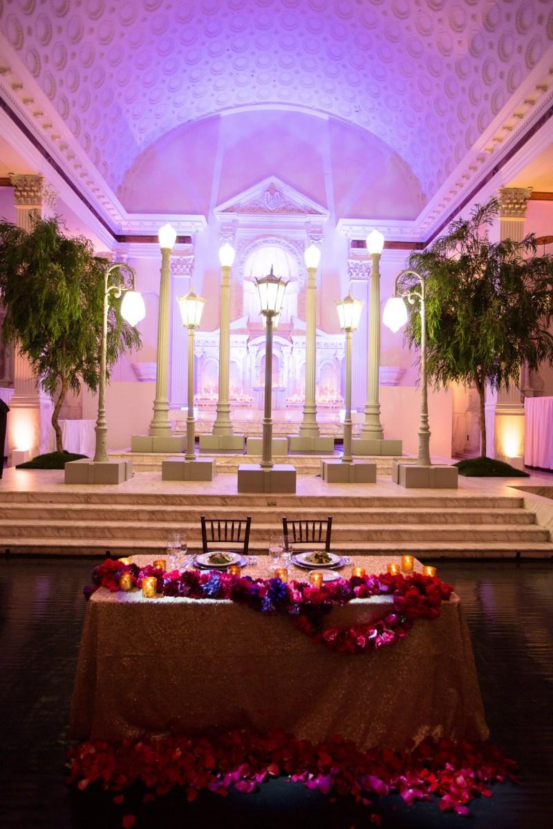 vibiana wedding reception head table