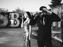 las vegas engagement shoot neon museum boneyard by nicole caldwell 01