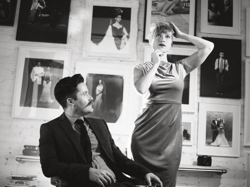 film noir engagement session photo by nicole caldwell studio 03