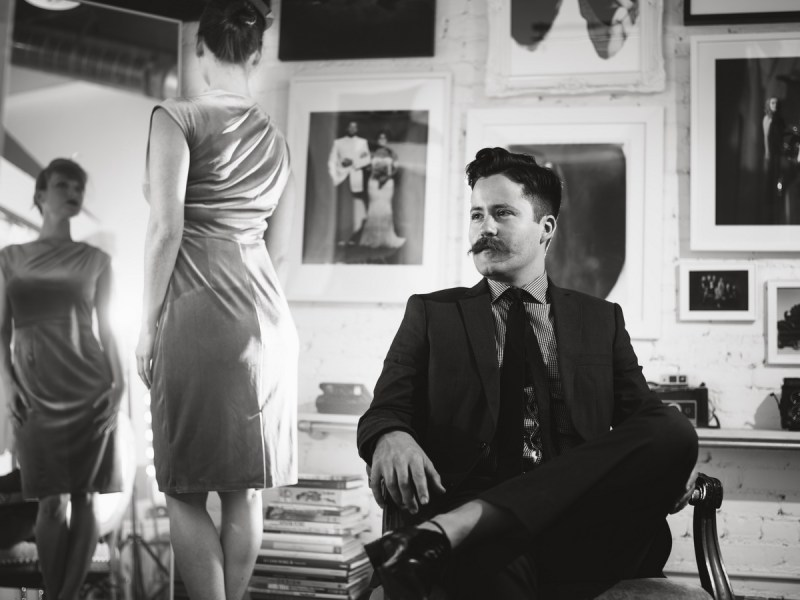 film noir engagement session photo by nicole caldwell studio 05