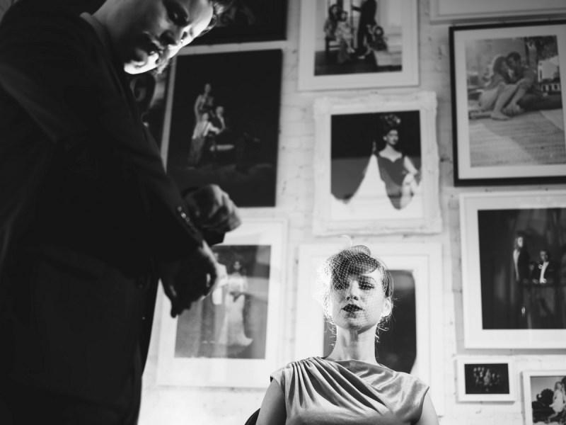 film noir engagement session photo by nicole caldwell studio 13