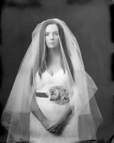 bride portrait new 55 film studio photography