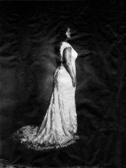 washi film 8 x 10 bride in photo studio