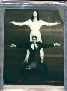 wedding yoga couple 8 x 10 polaroid impossible project film