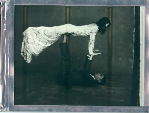 wedding yoga couple pose 8 x 10 polaroid impossible project