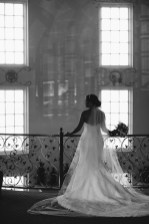 artistic temecula wedding photographer churon winery back of bride