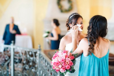 artistic temecula wedding photographer churon winery bride crying