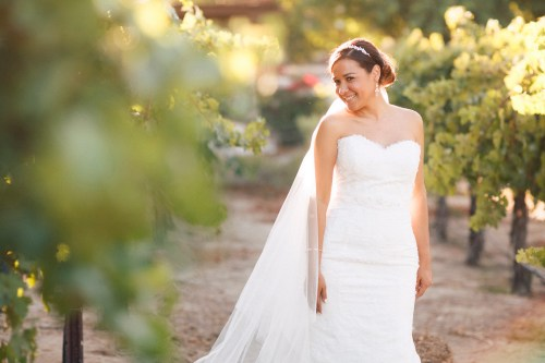 artistic temecula wedding photographer churon winery bride in vineyard