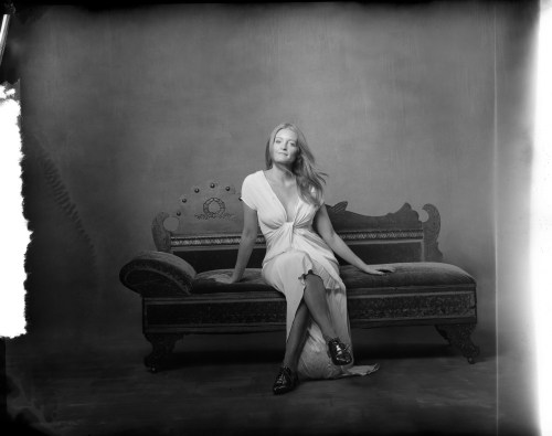 new 55 film photo studio portrait of woman