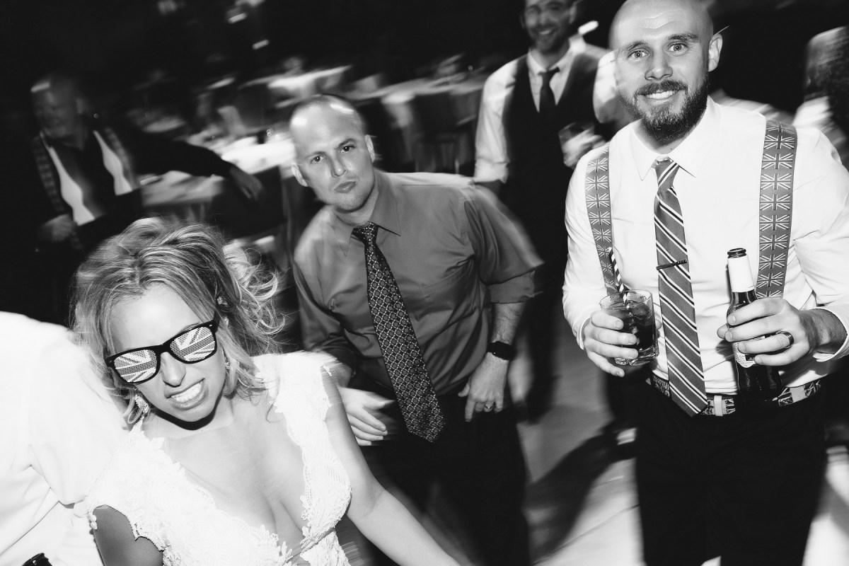 bride and groom on dance floor 7 degrees laguna beach