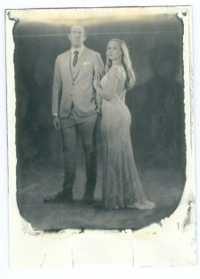 new 55 film positive print bride and groom