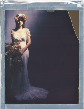 formal bridal portrait 8x10 color polaroid impossible project film