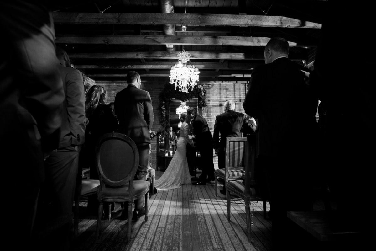 wedding carondelet house night time ceremony