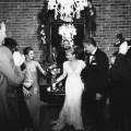 bride and groom exit carondelet house wedding