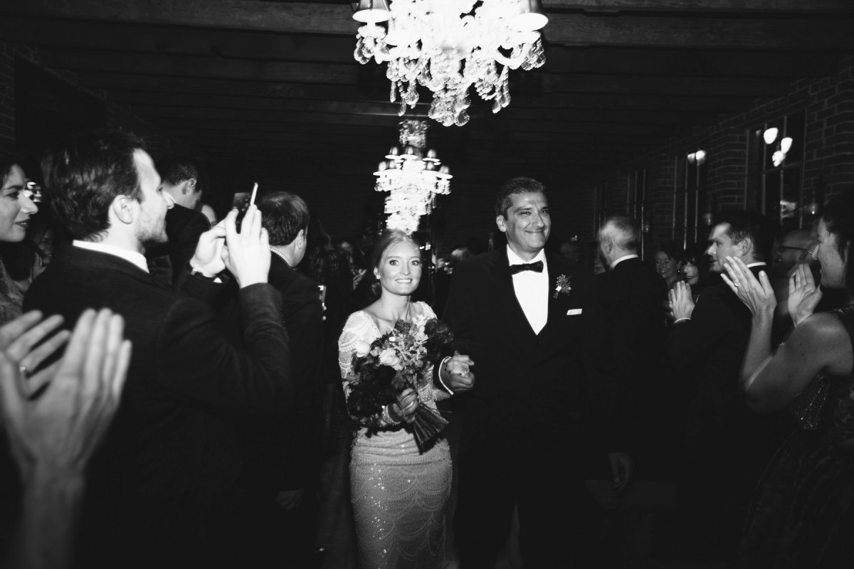 just married bride and groom ceremony carondelet house wedding