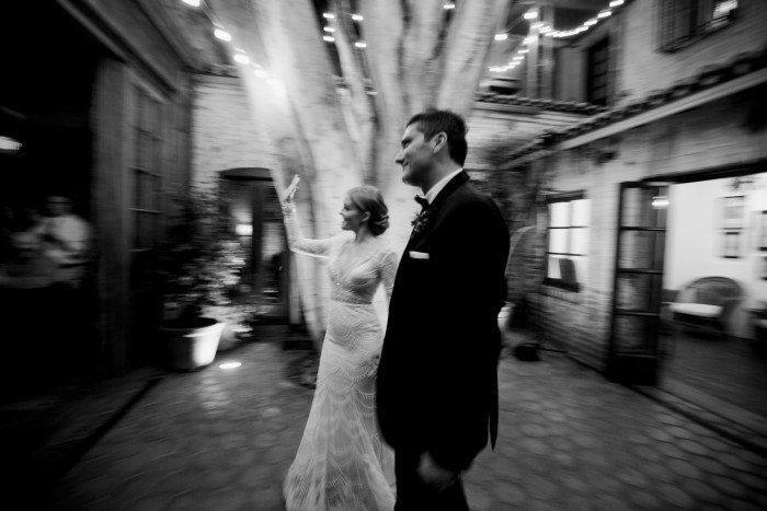 carondelet wedding reception bride and groom grand entrance