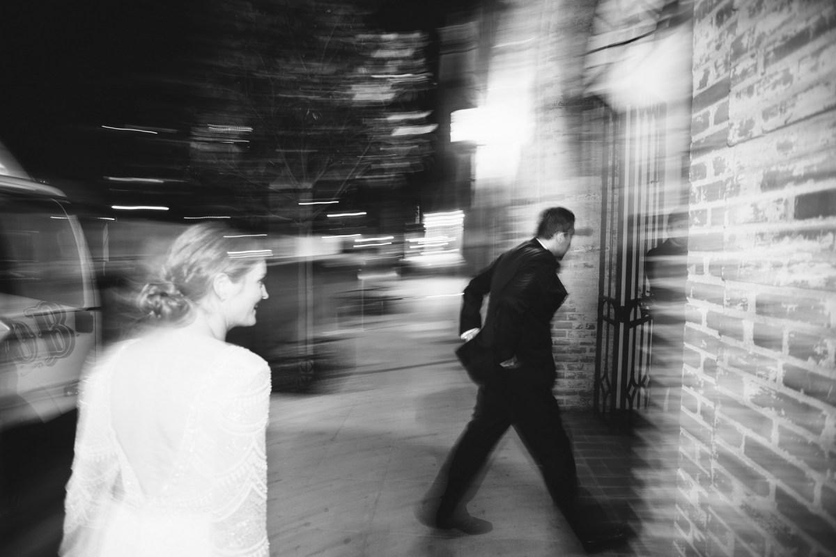 carondelet house wedding bride and groom night time photography